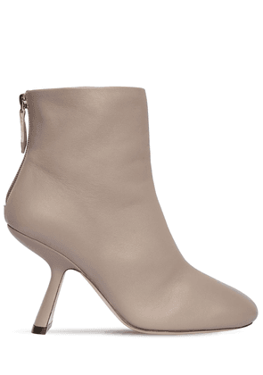 90mm Alba Leather Ankle Boots
