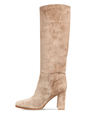85mm Suede Tall Boots