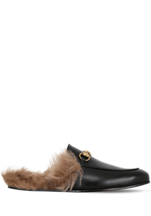 Princetown Leather & Wool Mules