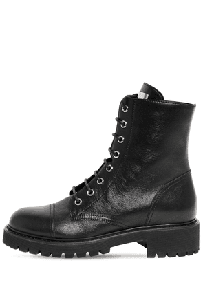 30mm Leather Ankle Boots