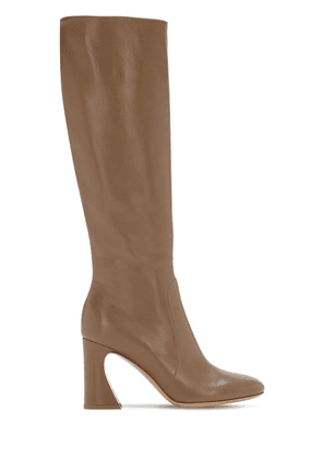 85mm Leather Tall Boots