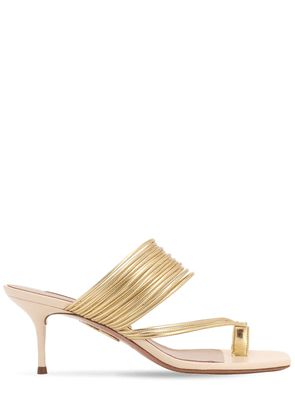 60mm Sunny Metallic Faux Leather Sandals