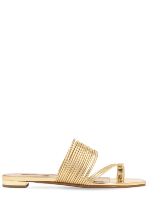 10mm Sunny Metallic Faux Leather Sandals