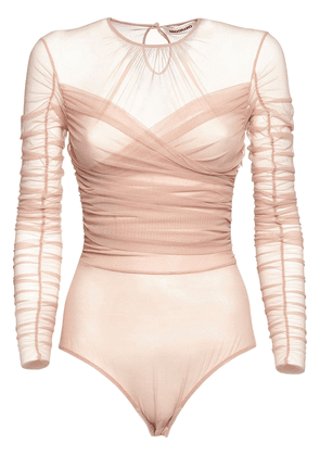Draped Stretch Tulle Body
