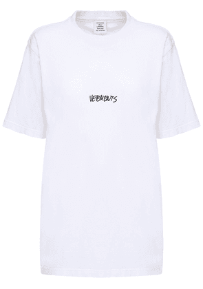 Over Logo Printed Cotton Jersey T-shirt