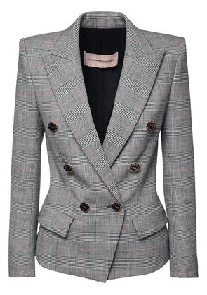 Fitted Wool Prince Of Wales Blazer