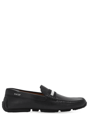 Driver Leather Loafers W/ Stripe