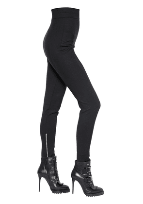 High Waisted Stretch Wool Pants