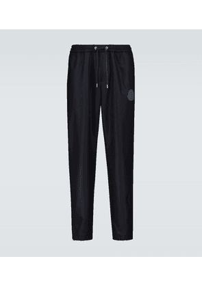 Wool trackpants with ankle zipper