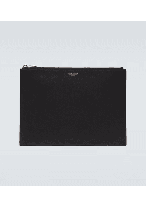 Rider leather iPad pouch