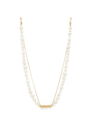 Frame Chain - Pearly Princess Pearl & Gold-plated Glasses Chain - Womens - White