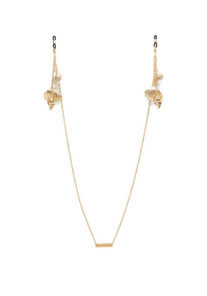 Frame Chain - Shellie Conch 18kt Gold-plated Glasses Chain - Womens - Gold