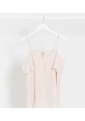 ASOS DESIGN Maternity cold shoulder cami in blush-Pink