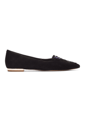 Sophia Webster Black Suede Butterfly Flats