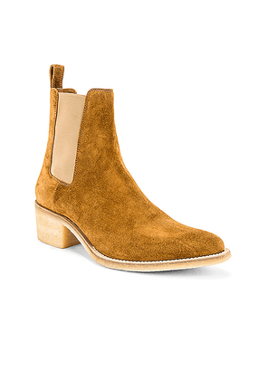 Amiri Crepe Chelsea Boot in Khaki - Brown. Size 42 (also in 41,44).