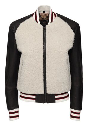 Leather & Shearling Connie Jacket