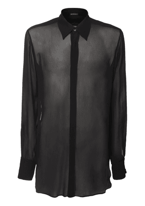 Sheer Viscose Long Shirt