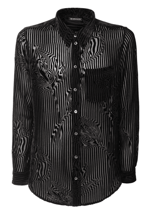 Striped Sheer Viscose & Silk Shirt