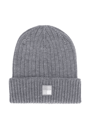 Woolrich Kids ribbed knit beanie - Grey