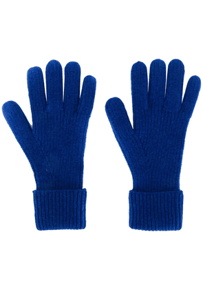 N.Peal ribbed gloves - Blue