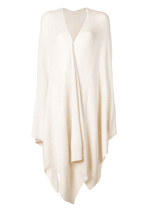 The Row long draped cardigan - NEUTRALS