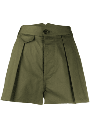Dsquared2 high-rise pleated shorts - Green