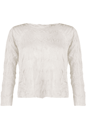 Emporio Armani knitted long-sleeve top - Grey
