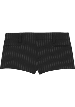 Saint Laurent Rive Gauche pinstriped mini shorts - Black