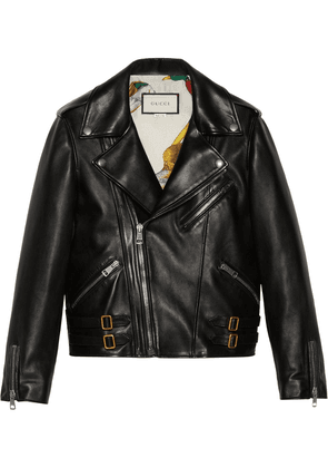 Gucci Plongé leather biker jacket - Black