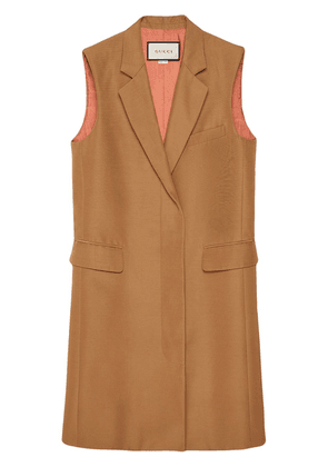 Gucci single-breasted long vest - NEUTRALS