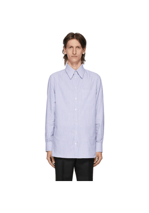 Gucci White and Blue Vintage Stripe Shirt