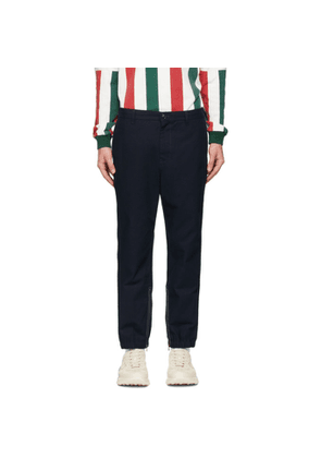 Gucci Navy Side Stripe Trousers