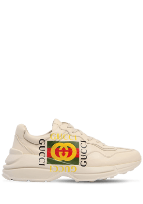 Rython Gucci Print Leather Sneakers