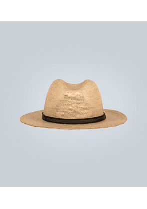 Straw Panama hat with band