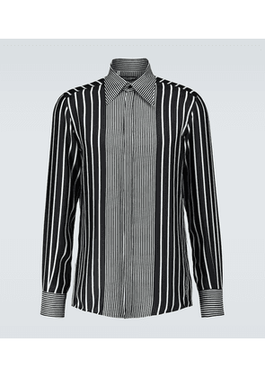Long-sleeved silk shirt