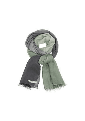 Care By Me DIP DYE SCARF IN GREEN & GREY