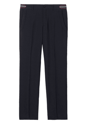 Burberry stripe detail tailored trousers - Blue