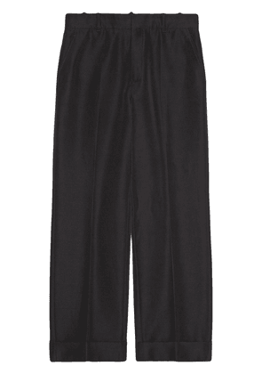 Gucci straight-leg cropped trousers - Black