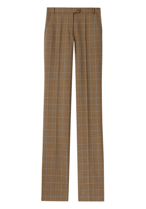 Burberry Prince of Wales check tailored trousers - Brown