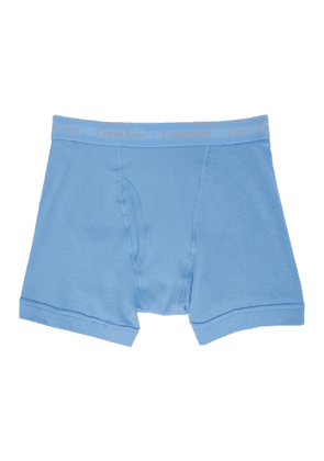 Calvin Klein Underwear Three-Pack Blue Cotton Boxer Briefs