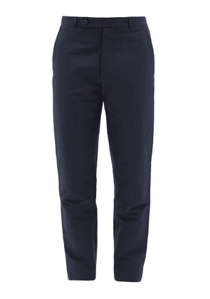 Éditions M.R - Patrick Pinstriped-twill Trousers - Mens - Navy Multi