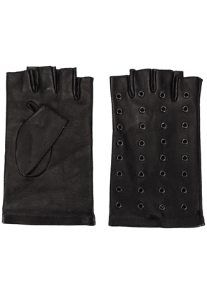 Karl Lagerfeld grommet-embellished fingerless gloves - Black