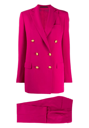 Tagliatore double breasted two-piece suit - PINK