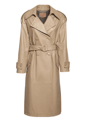Leather Trench Coat W/ Belt
