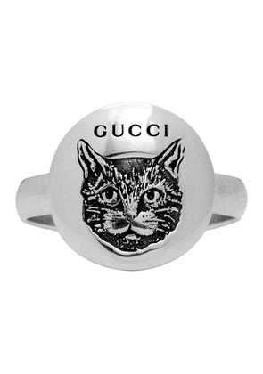 Gucci Silver Blind For Love Mystic Cat Ring