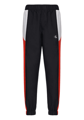 Logo Color Block Nylon Track Pants