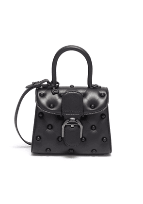 'Brillant Rodéo' mini quilted leather satchel