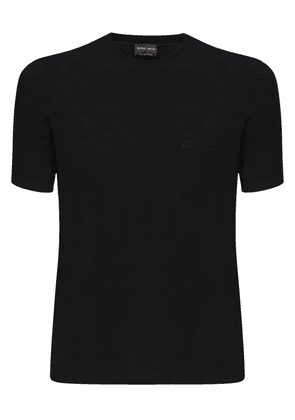 Logo Embroidery Stretch Jersey T-shirt