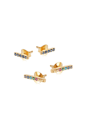 Gold Rainbow Bar Earring Set