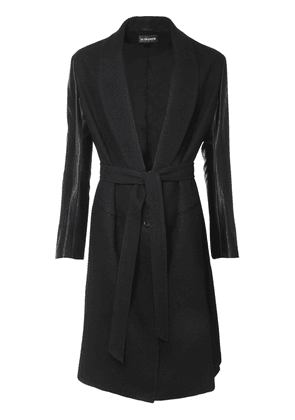 Cotton & Wool Coat W/ Belt